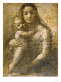"Virgin and Child, Preparatory Cartoon for the ""Mackintosh Madonna"" Giclée-Druck von  Raphael"