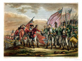 The Surrender of General John Burgoyne at the Battle of Saratoga, 7th October 1777 Giclee Print by Fauvel