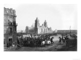 Major General Winfield Scott Entering Mexico in 1847, 1847 Giclee Print