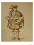 Costume Design for an 1847 Production of &quot;Don Juan&quot; by Moliere at the Comedie Francaise Giclee Print by Achille Deveria