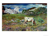Meadows in Spring Premium Giclee Print by Giovanni Segantini