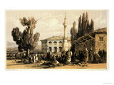 "Tirana, from ""Journals of a Landscape Painter in Albania and Greece,"" Published 1851 Giclée-Druck von Edward Lear"