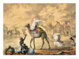 A Sand Wind on the Desert Giclee Print by Captain George Francis Lyon