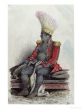 King Temoana on the Island of Nuka-Hiva Dressed in the Uniform of a French Colonel, circa 1841-48 Giclee Print by Maximilien Radiguet