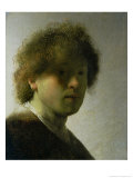 Self Portrait as a Young Man, circa 1628 Giclee Print by  Rembrandt van Rijn