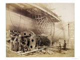 "Isambard Kingdom Brunel Beside the ""Great Eastern,"" circa 1857 Giclee Print by Robert Howlett"