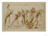 Study for the Massacre of the Innocents Reproduction proc&#233;d&#233; gicl&#233;e par Raphael 