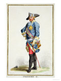 "Frederick II ""The Great"" King of Prussia from Receuil Des Estampes Giclee Print by Pierre Duflos"