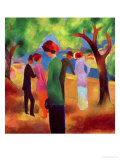 Woman in a Green Jacket, 1913 Premium Giclee Print by Auguste Macke