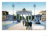 Postcard Depicting the Brandenburg Gate in Berlin Giclee Print