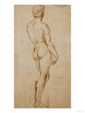 Study of David, after Michelangelo Reproduction procédé giclée par Raphael