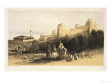"""Durazzo, from """"Journals of a Landscape Painter in Albania and Greece,"""" Published 1851 Giclée-Druck von Edward Lear"""
