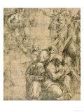 "Pythagoras, Detail from the Cartoon for the ""School of Athens,"" 1510-11 Giclée-trykk av Raphael,"