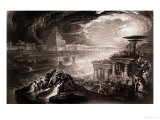 The Fall of Babylon Giclee Print by John Martin