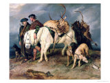 The Deerstalkers' Return, 1827 Premium Giclee Print by Edwin Henry Landseer