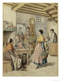 Interior of a Farmhouse in Provence, 1901 Giclee Print by Frédéric Théodore Lix