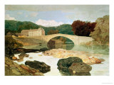 Greta Bridge, Durham Giclee Print by John Sell Cotman
