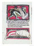 Wild Boar and Griffon, Miniature from the Saltykowchsh Edrin Bestiary Giclee Print