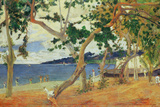 By the Seashore, Martinique, 1887 Premium Giclee Print by Paul Gauguin