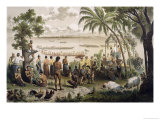 "Pirogue Races on the Bassac River, from ""Atlas Du Voyage D'Exploration De L'Indochine"" Giclee Print by Louis Delaporte"