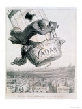 Nadar Elevating Photography to the Height of Art, Published 1862 Giclee Print by Honore Daumier