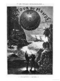 "Frontispiece of ""Around the World in Eighty Days"" by Jules Verne Paris, Hetzel, Late 19th Century Giclee Print by L Bennet"