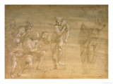 "Pythagoras, Drawing for the ""School of Athens"" Fresco Reproduction procédé giclée par Raphael"