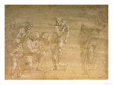 "Pythagoras, Drawing for the ""School of Athens"" Fresco Giclée-trykk av Raphael,"