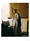 Woman Reading a Letter, circa 1662-63 Gicle-tryk af Jan Vermeer