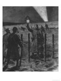 The Christmas Day Truce of 1914, Published 1915 Giclee Print by Frederic Villiers