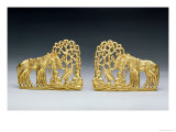 Pair of Belt Clasps with Three Figures Giclee Print by  Scythian