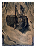 Odin Calling up the Fire, circa 1914 Premium Giclee Print by Franz Stassen