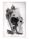 """""""Dropping the Pilot,"""" Caricature of Otto Von Bismarck and Kaiser Wilhelm II Giclee Print by John Tenniel"""