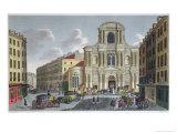 The Porch of Saint Gervais Church, circa 1815-20 Giclee Print by Henri Courvoisier-Voisin