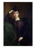 Portrait of a Young Woman, circa 1900 Giclee Print by Pascal Adolphe Jean Dagnan-Bouveret