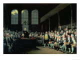 Charles James Fox Addressing the House of Commons During the Pitt Ministry Giclee Print by Anton Hickel
