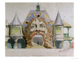 Design for a Restaurant Facade, &quot;A Gargantua,&quot; circa 1900 Giclee Print by Paul Dufresne
