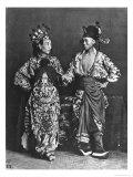 Chinese Actors, c. 1870 Lámina giclée por John Thomson