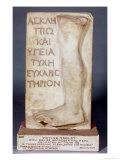 Votive Tablet with Relief of a Leg, Dedicated by Tyche to Aesculapius and Hygieia Giclee Print