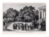 Plato and His Disciples in the Garden of the Academy, from &quot;La Vie Des Savants Illustres&quot; Giclee Print by Alexandre De Bar