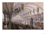 Interior View of the Palais De L&#39;Industrie at the Exposition Universelle in 1855 Giclee Print by Louis Jules Arnout