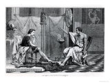 The Education of Alexander the Great by Aristotle from a Book by L. Figuier Giclee Print
