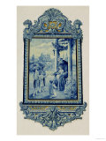 Azulejos Depicting St. Anthony of Padua and Children Giclee Print