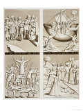 "Carvings from the Church at Uppsala, Plate 42 from ""Le Costume Ancien Et Moderne"" Giclee Print by Vittorio Raineri"