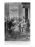 In 1747, the Companions are Told, the Pretender Charles-Edward Stuart Giclee Print by Pierre Mejanel