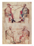 "Hippocrates and Hunayn Ibn Isahq and Hippocrates and Claudius Galenus from ""De Herbis"" Giclee Print"