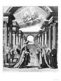 The Constitutions of Freemasonry by James Anderson, Frontispiece Giclee Print by John Pine