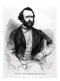 Adolphe Sax, from 'L'Illustration', 1863 (Engraving) (B/W Photo) Giclee Print by  French