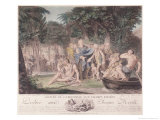 Arrival of Jean-Jacques Rousseau in the Elysian Fields, 1782 Giclee Print by Jean-Michel Moreau the Younger