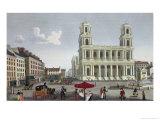The Place Saint Sulpice, circa 1815-20 Giclee Print by Henri Courvoisier-Voisin